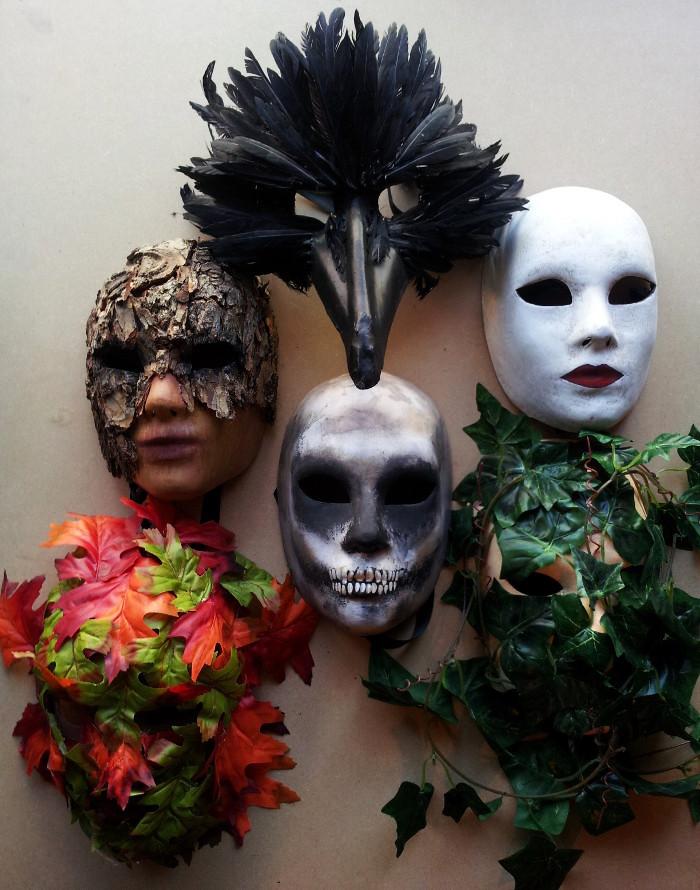 6 masks made by Paul Watson