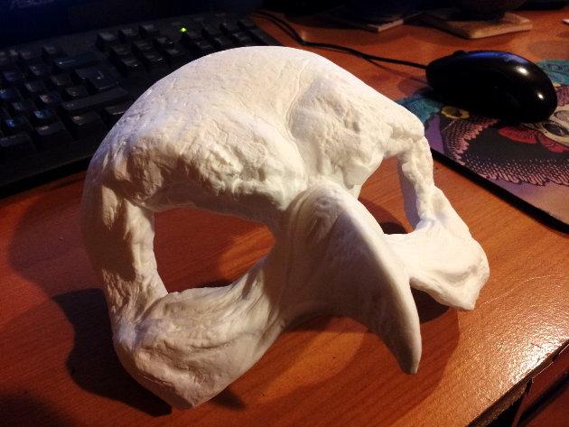 Blank bird mask