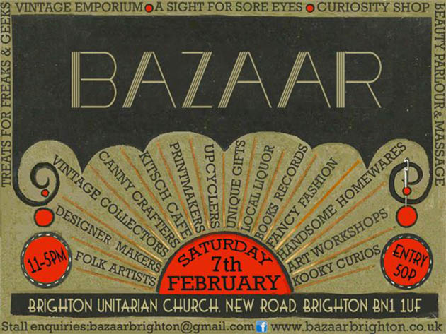 Brighton Bazaar poster, February 2015