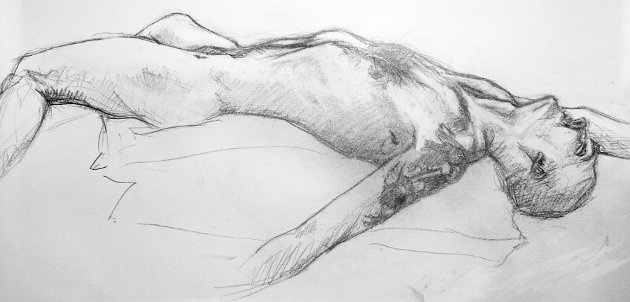 Life Drawing by Paul Watson, 2010