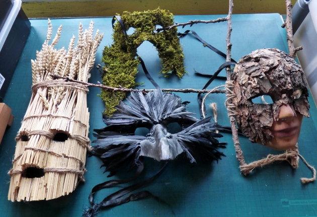 Masks made by Paul Watson