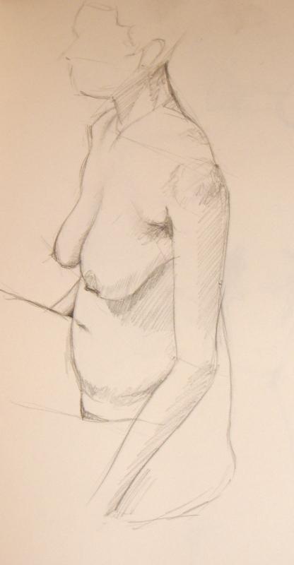 Female Nude, Study 1