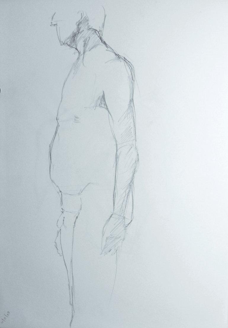 Male Nude, Study 2