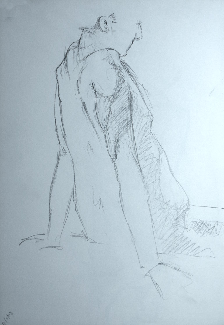 Male Nude, Study 3