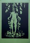 Moss Figure Limited Edition Linoprint
